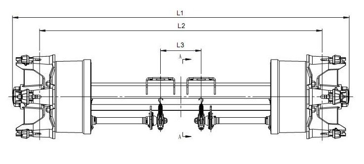 12T Spoke Axle schematics