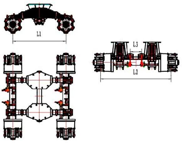 suspensão de ponto único em forma de armação esquemas